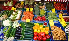 Vegetable Market (EuroSlice) Tags: tomato pumpkin ginger broccoli potato asparagus cabbage carrot cauliflower garlic onion bittergourd chilli sweetpotato brinjal capsicum turnip streetmarket ladyfinger vegetablemarket