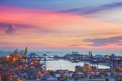 AH7A2967 (anekphoto) Tags: ocean china sunset sea water japan hub port boat singapore asia box crane steel south ships transport environmental aerial cargo east container business pollution transportation malaysia oil delivery environment petrol southeast spill shipping naval straits import trade economy merchant carrier freight tanker malacca vessels crude export korma polluted busiest petrochemicals