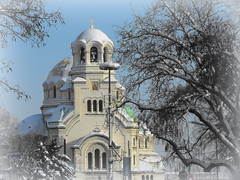 Sofia - The St. Alexander Nevsky Cathedral (Stella VM) Tags: winter white snow church cathedral sofia snowy bulgaria orthodox       stalexandernevskycathedral