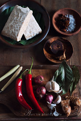 ingredients (asri.) Tags: ingredients indonesianfood foodphotography 2015 85mmf14 foodstyling darkbackdrop