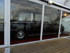 The Royal Yacht Britannia #7 (jimsawthat) Tags: uk urban reflection scotland automobile edinburgh unitedkingdom yacht leith limousine royalyachtbritannia limosene