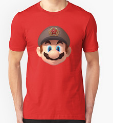 Communist Mario is our Comrade (Memes, T-Shirts) Tags: super mario communism soviet bros comrade communnist