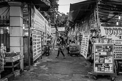 Stalls and traders (Triyadi Wijaya) Tags: road street shadow people blackandwhite bw white black monochrome fix daylight hall blackwhite high alley day fuji outdoor candid streetphotography rangefinder tags stranger beta human add walkway fujifilm pocket interest prosumer 23mm x100t