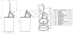Manual Trash Compactor (Drawings) (Ɍaillery) Tags: trash computer design garbage hand drawing can bin technical rubbish manual solidworks smasher crusher drafting operated compactor assisted mathcad