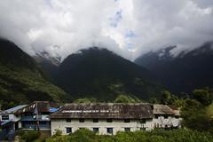 Chhomrong Mountain View (JFB Photography) Tags: nepal mountain clouds trekking landscape annapurna himalayas chhomrong abctrek annapurnabasecamptrek