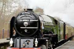 No stopping here! (smcnally24601) Tags: railroad station rail railway surrey steam hills pullman locomotive a1 tornado lner betchworth