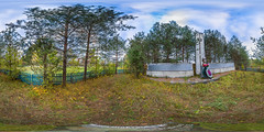 Monument to the dead villagers. The village Trestna. (ilya_yakunin) Tags: panorama monument nature canon village russia 360 360x180 spherical 360 sphericalpanorama equirectangular 18135 photosphere 550d canon550d canoneos550d  trestna