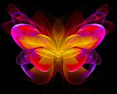 Butterfly Angel (CopperScaleDragon) Tags: angel butterfly random fractal jwf jwildfire