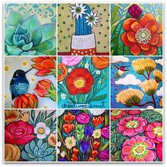Blooms (Regina Lord (creative kismet)) Tags: flowers art acrylic blossom paintings blooms
