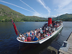 Ullswater cruiser (nisudapi) Tags: uk cruise ferry boat lakes lakedistrict quay cumbria steamer ullswater glenridding 2015