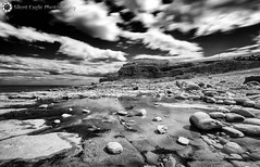 Whitburn (Silent Eagle  Photography) Tags: sea sky bw seascape reflection monochrome clouds canon photography rocks shadows silent eagle north east sep northeast whitburn markiii canoneos5d copyright silenteaglephotography silenteagle09