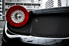 dp0q_160206_A (clavius_tma-1) Tags: red car circle tokyo shinjuku mesh tail sigma round vehicle   quattro ferrariblack dp0