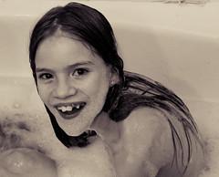 41|365 (Kelli Moskal Photographs) Tags: portrait blackandwhite kids portraits children bath funny bubblebath 365