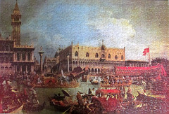 The Bucintoro Returning to the Molo on Ascension Day by Canaletto (pefkosmad) Tags: jigsaw puzzle leisure pastime hobby canaletto painting art venice greatpaintings arrowgameslimited vintage unopened sealed unused charityshop bargain thebucintororeturningtothemoloonascensionday oldmaster returnofthebucintorotothemoloonascensionday