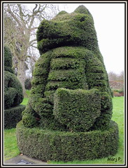 The Red Dragon. (The Queen's Beasts). (marj.p. (Catching up!!)) Tags: green gardens wales kent topiary gardening foliage evergreen bexley horticultural livingsculpture reddragon privet 15thcentury owainglyndwr jacobean rivercray thequeensbeasts hallplacegardensbexleykent fujifinepixhs50 ornimentalshrub ornimentalshapes