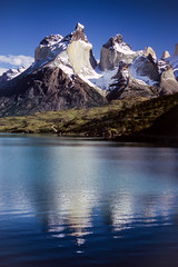 Torres del Paine (Walter Quirtmair) Tags: chile blue sky patagonia lake mountains reflection water torres paine 500px ifttt quirtmair