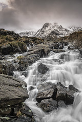 Flowing (Photo Lab by Ross Farnham) Tags: mountain snow motion wales waterfall nikon rocks angle wide flowing snowdonia capped f4 d800
