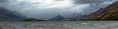 Lake Wakatipu. Otaga region.  South Island, New Zealand (see related photos in my New Zealand album) (LKungJr) Tags: newzealand mountains nature misty clouds landscape lakes serene lakewakatipu glenorchy