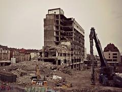 Hospital demolition (hommedunord) Tags: germany deutschland und stuttgart demolition klinikum abriss fr klinik operative intensivmedizin olgahospital ansthesiologie olgakrankenhaus