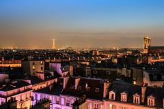 Paris from above (frfourrier) Tags: light sky paris building architecture landscape colours pause effeil