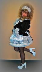 Maid (jensatin4242) Tags: sissy transvestite taffeta maid crossdresser petticoat sissymaid jensatin