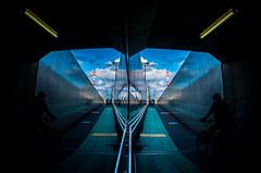 IMGP3304 (aquichang) Tags: sky cloud japan mirror snap fisheye   steeltower
