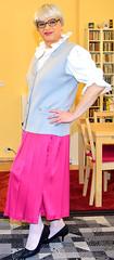 Ingrid021721 (ingrid_bach61) Tags: skirt blouse mature button waistcoat pleated ruffled weste faltenrock rschenbluse durchgeknpft