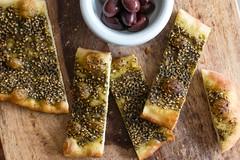 Man'oushe Lebanese Flatbreads (David Lebovitz) Tags: bread recipe sesame sumac pastry yeast lebanese thyme middleeastern flatbread zaatar sesameseed manoushe bakingsteel