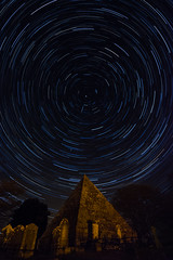 Stargate Valhalla (Edward Wolohan) Tags: ireland sky cemetery night stars spring colours pyramid tomb eire astrophotography astronomy stargate nightsky valhalla startrails polaris