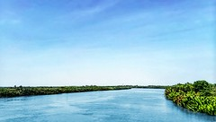Waterway-Mnh Mng [Cat Lai-Vietnam] (tangchiithanh) Tags: blue sky green river landscape infinity vietnam niceweather