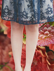 Where Do You Stand (swong95765) Tags: flowers woman beautiful lady female standing stand pretty dress legs style shear