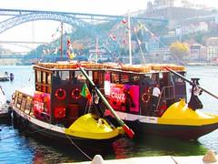 II Boats (dias.carla88) Tags: travel blue red sky test portugal canon river boat wine outdoor explore porto douro colored gaia brigde ribeira francesinha
