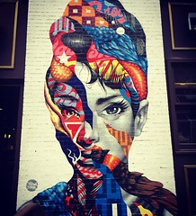 Audrey Hepburn Graffiti (Cait_Stewart) Tags: street nyc newyorkcity streetart newyork art tourism graffiti artwork audreyhepburn manhattan soho tourist wanderlust littleitaly hepburn wander iphone tristaneaton iphoneography instagramapp xproii