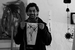 Taller de trazozen con Manuel Maqueda (pol parrhesia) Tags: blanconegro caligrafa vejerdelafrontera pinturachina