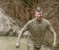 a bigger splash (stevefge) Tags: portrait people men netherlands mud candid nederland event viking berendonck nederlandvandaag reflectyourworld strongviking