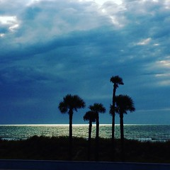 Sliver of light (Beth Reynolds) Tags: blue storm clouds silver gulf