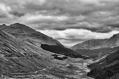 Glen Croe (AdamMatheson) Tags: blackandwhite bw mountain mountains monochrome canon landscape mono scotland blackwhite nationalpark scenery scottish scene 7d restandbethankful lochlomondnationalpark a83 scottishlandscape argyllbute glencroe canonef24105mmf4lisusm canon24105l scottishmountain canonef24105f4lisusm canoneos7d canon7d canoneos24105f4lisusm adammatheson adammathesonphotography
