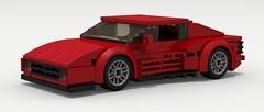 Ferrari Testarossa (LegoGuyTom) Tags: road city red italy classic car sport digital race speed vintage italian lego miami pov designer vice super ferrari racing legos download 1980s supercar 1990s dropbox speedster racer povray testarossa ldd lxf legocity legodigitaldesigner