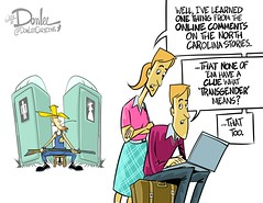 0416 transdefinitional cartoon (DSL art and photos) Tags: bathrooms politics northcarolina transgender online comments discrimination editorialcartoon bigotry lgbtq donlee