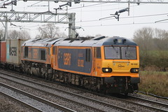 GBRf 66750 & 92032 @ Chorlton Lane (uksean13) Tags: train canon cheshire rail railway container crewe freight gbrailfreight ef28135mmf3556isusm gbrf 66750 92032 chorltonlane 760d