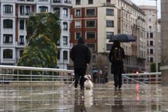 Raining cats and dogs (Hada Marina) Tags: dog rain umbrella puppy lluvia couple pareja perro paraguas ll