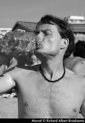 Marcel (Richard Albert Broeksema) Tags: shirtless blackandwhite beach water outside thirsty richardalbertbroeksema crea020