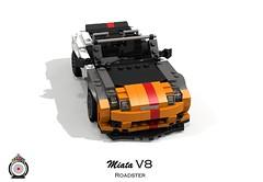 LUGNuts Custom Miata V8 Roadster (lego911) Tags: 2005 auto car japan modern japanese nc model rat lego render convertible smell rod 102 custom mazda ports challenge v8 cad sportscar mx5 lugnuts roadster povray ratrod 2000s moc mkiii mk3 ldd miniland lego911 ismellamodernrat