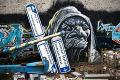 Inge Hoogendoorn (ingehoogendoorn) Tags: streetart graffiti utrecht streetphotography forcedperspective catharijnesingel straatfotografie eyetrick