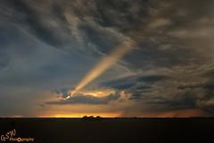Shine a Light (Gavmonster) Tags: sunset summer sky orange usa storm water rain weather clouds america landscape rainbow nikon unitedstates wind howard wideangle land kansas thunderstorm dust thunder downpour stormchasing supercell stormchaser raincurtain 1024mm d7000 nikond7000 gswphotography