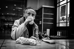 110/355 - Essen & Trinken / Food & Drink (Boris Thaser) Tags: street city people blackandwhite bw food man coffee caf project germany bayern deutschland bavaria essen flickr sitting adult candid drinking streetphotography kaffee scene menschen explore drinks stadt creativecommons photoaday sw mann 365 cafeteria unposed trinken 32 projekt augsburg tog pictureaday szene sitzend 366 ungestellt schwarzweis project365 querformat landscapeformat project366 erwachsener strasenfotografie streettog sonyrx100ii sonydscrx100ii zweisichtde zweisichtig
