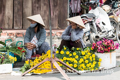 Over there (10b travelling / Carsten ten Brink) Tags: two flower look hat asian women asia asien southeastasia vietnamese market pair central vietnam hoian asie conical indochine indochina 2015 otherkeywords tenbrink carstentenbrink genericplaces iptcbasic 10btravelling