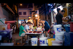 Back Alley hawker stall at night (Nic Kyo) Tags: street travel people night living asia malaysia lively