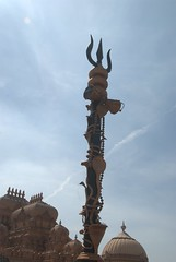 A Trishul - Holy Trident of god Shiva (VinayakH) Tags: india religious temple delhi hindu hinduism chattarpur katyayani