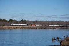 DL PT98 passing Snag Pond in Gouldsboro, PA (Elijah John Wilson) Tags: delaware dl lackawanna delawarelackawanna